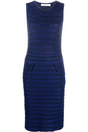 Dior 2010s pre-owned scalloped effect knitted dress