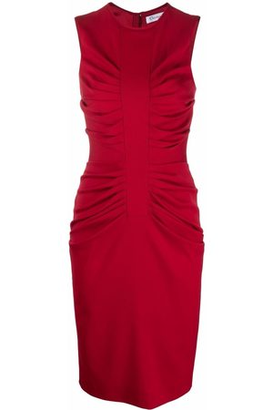 Dior 2010s pre-owned ruched fitted dress