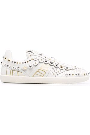 Tod's Stud-embellished leather sneakers - Neutrals