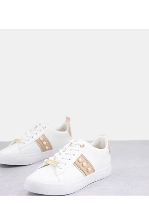 Miss KG Wide fit pearl trainers in blush-Neutral