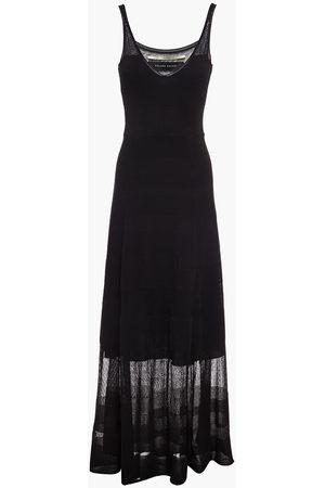 Roland Mouret Women Maxi Dresses - Woman Cetina Knitted Maxi Dress Size L