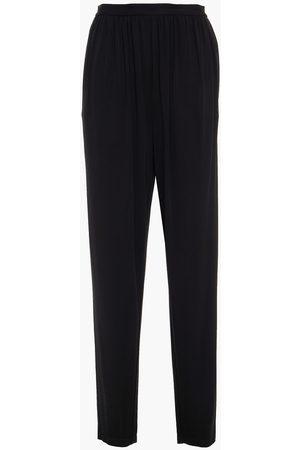 Halston Heritage Women Trousers - Woman Rowan Gathered Jersey Tapered Pants Size 10