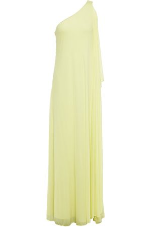 Halston Heritage Women Casual Dresses - Woman Vivian One-shoulder Draped Jersey Gown Pastel Size 10