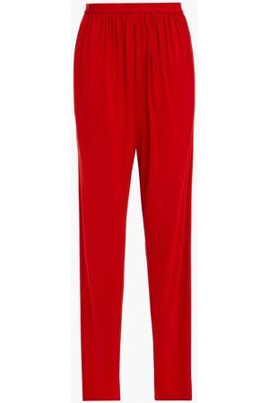 Halston Heritage Women Trousers - Woman Rowan Gathered Jersey Tapered Pants Size 0