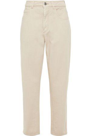 Brunello Cucinelli Women Boyfriend - Woman High-rise Tapered Jeans Off- Size 40