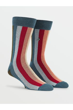 Volcom Men Socks - Men's True Socks - Srb-Sanded Raw Black