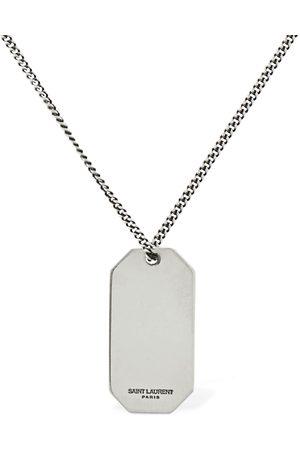 Saint Laurent Men Necklaces - Plaque Long Necklace
