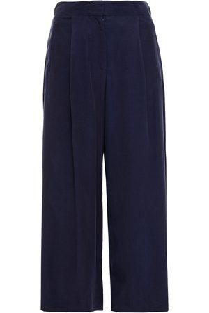 Etro Woman Shambhala Faille Culottes Navy Size 38