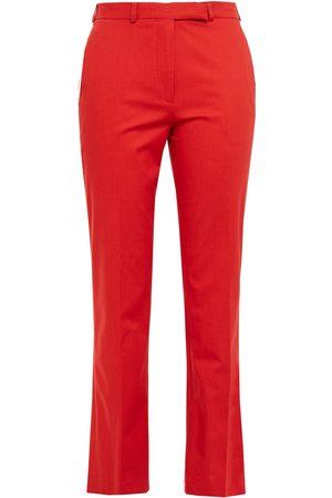 Etro Woman Violante Cropped Cotton-blend Slim-leg Pants Tomato Size 40