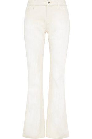 Marni Women Wide Leg Trousers - Woman Cotton-gabardine Flared Pants Ecru Size 36