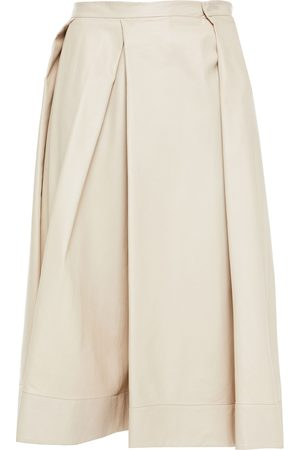 Marni Women Leather Skirts - Woman Pleated Leather Skirt Size 36