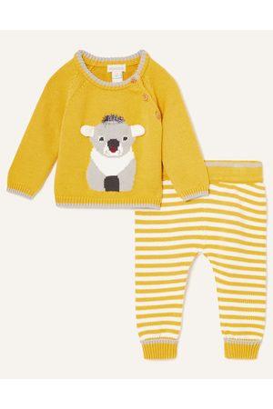 Monsoon Outfit Sets - (MUSTARD) Newborn Koala Knitted Set , in Size: 3-6 Months