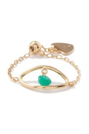 PERSÉE Evil Eye Emerald & 18kt Ring - Womens