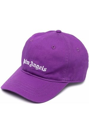 Palm Angels Kids Girls Hats - Logo-embroidered cap