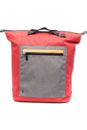 ALLY CAPELLINO Colour-block zipped backpack