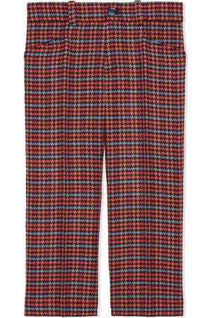 Gucci Houndstooth-check wool trousers