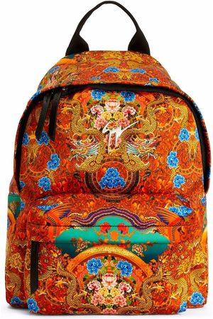 Giuseppe Zanotti Bud Oriental-print backpack,.