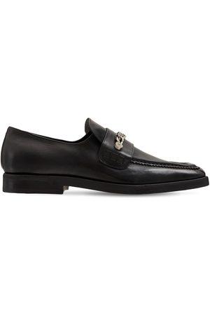 MATTIA CAPEZZANI Leather Loafers W/ Chain