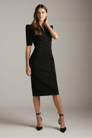 Karen Millen Women Pencil Dresses - Karen Millen Forever Corset Laced Pencil Dress