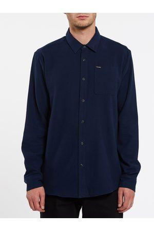 Volcom Men Long sleeves - Men's Caden Solid Shirt - NAVY