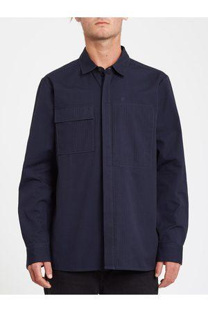 Volcom Men Long sleeves - Men's Rucker Shirt - NAVY