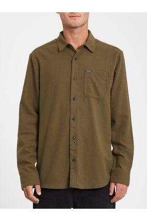 Volcom Men Long sleeves - Men's Caden Solid Shirt - WREN