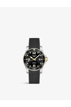 Longines Men Watches - L37813569 Hydroconquest stainless steel and rubber automatic watch
