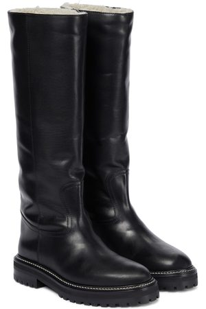 Jimmy Choo Yomi shearling-lined leather boots