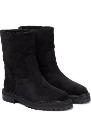 Jimmy Choo Yari shearling-lined suede ankle boots
