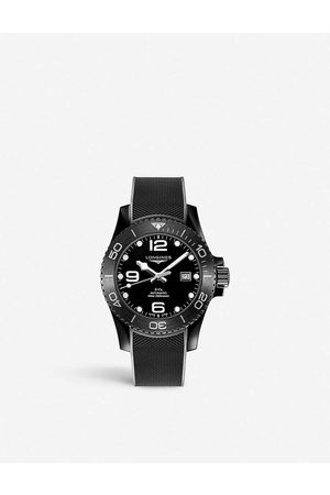 Longines Men Watches - L37844569 Hydroconquest ceramic and rubber watch