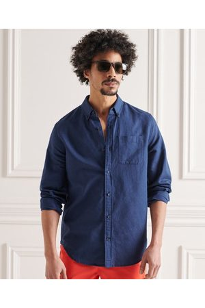 Superdry Men Long sleeves - Cotton Linen Long Sleeved Shirt