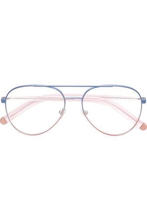 Retrosuperfuture Sunglasses - Contrast aviator glasses