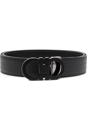 Salvatore Ferragamo Men Belts - Gancini embossed leather belt