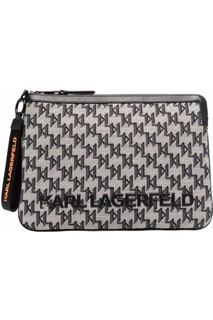 Karl Lagerfeld Jacquard-monogram clutch bag
