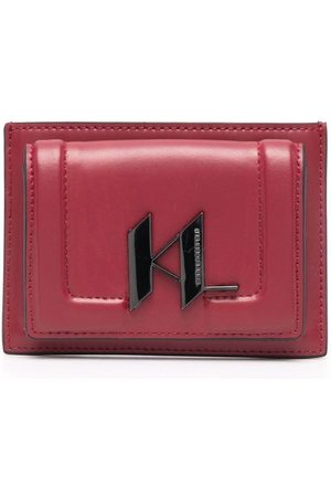Karl Lagerfeld Logo-plaque leather wallet