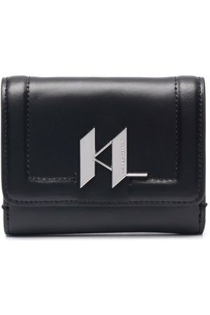 Karl Lagerfeld Logo plaque leather wallet