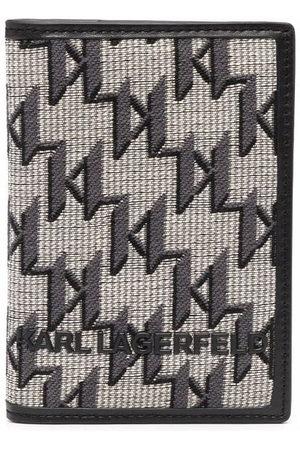 Karl Lagerfeld Monogram-print wallet - Neutrals