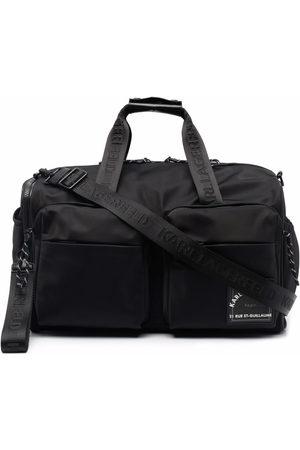 Karl Lagerfeld Recycled polyester weekender bag