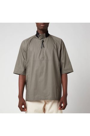 Salvatore Ferragamo Men Short sleeves - Men's Short Sleeve Zip Shirt