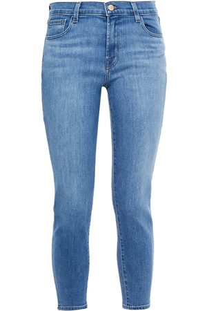 J Brand Woman Cropped Mid-rise Skinny Jeans Mid Denim Size 23