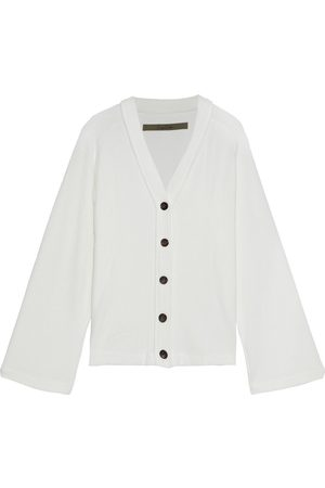 ENZA COSTA Women Cardigans - Woman Ribbed-knit Cardigan Off- Size L