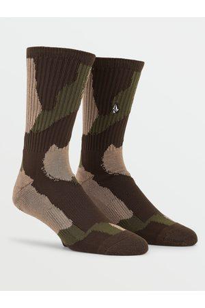 Volcom Men Socks - Men's Vibes Socks - Camouflage