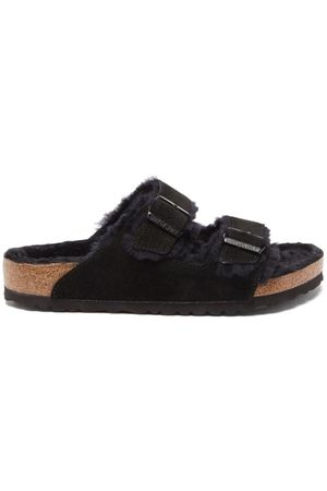 Birkenstock Arizona Shearling-lined Suede Sandals - Mens