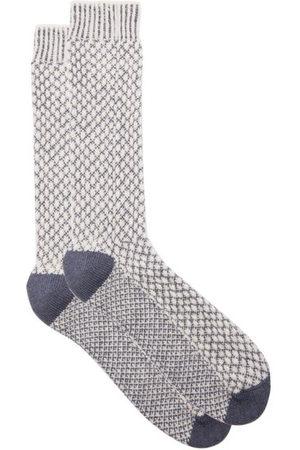 JOHN LOBB Men Socks - Merino Wool-blend Outdoor Socks - Mens