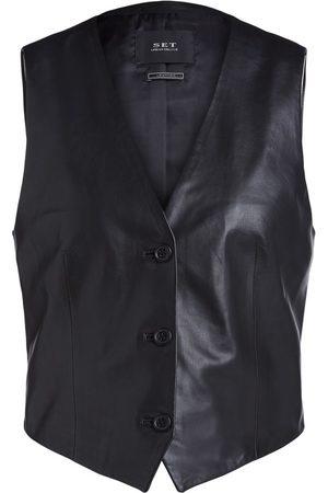 SET Set Leather Waistcoat