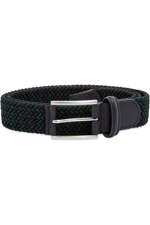 Anderson's Andersons B0667 Woven Textile Belt Navy / Green