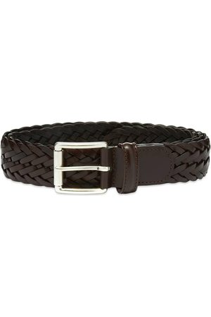Anderson's Men Belts - Andersons A1097 Braided Leather Belt Dark