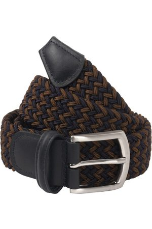 Anderson's Andersons B0667 Woven Textile Belt Navy / Brown
