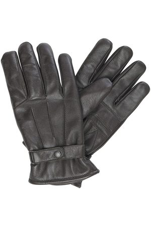 Barbour Burnished Leather Thinsulate Gloves Dark