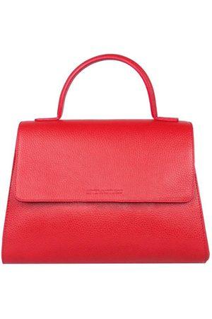 Luxe Designers Stefano Turco Frida Red Top Handle Handbag